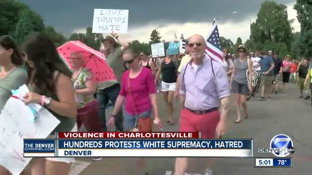 Denver rallies to denounce racism- hatred and white supremacy after…