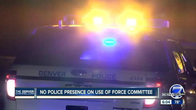 No police presence on use of force committee