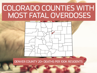 12 CO counties with highest overdose death rates