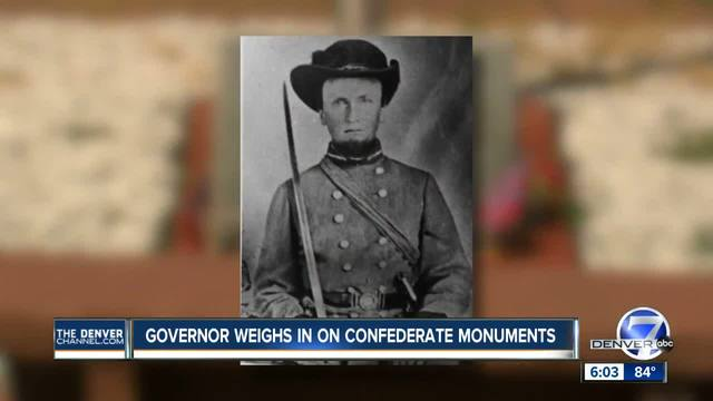 Colorado governor weighs in on confederate monuments