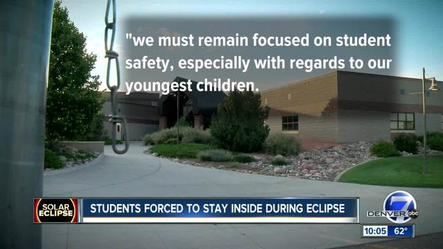Hundreds of kids won-t be watching the eclipse outside in DougCo because…