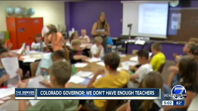 Colorado governor- We don-t have enough teachers