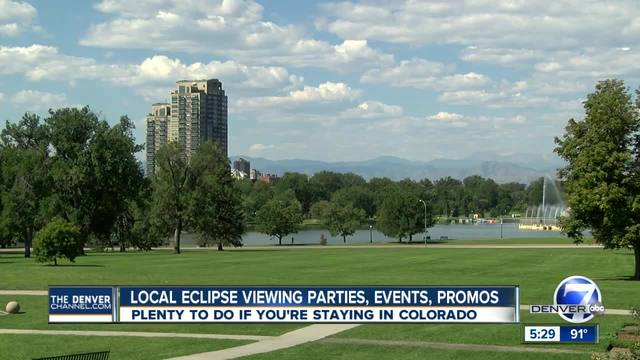 Eclipse 2017 in Colorado- Local watch parties- events happening Monday