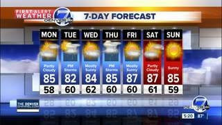 Chance for a few late-day showers and storms