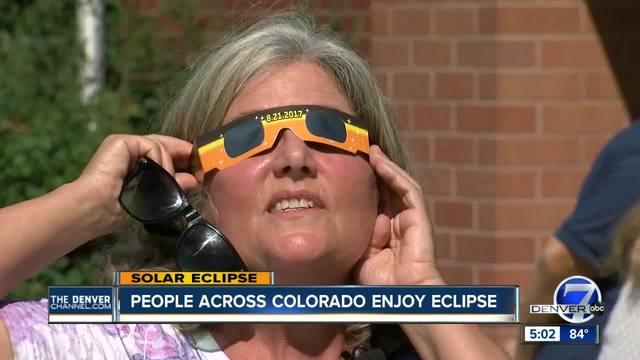 People across Colorado enjoy eclipse