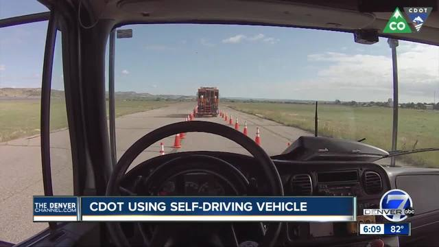 Colorado debuts driverless truck to protect road crews