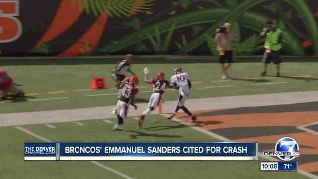 Broncos WR Emmanuel Sanders cited for careless driving after morning crash
