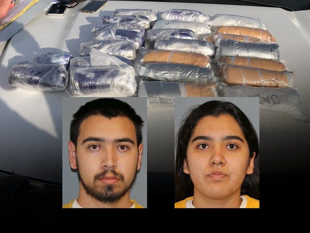 Cops find large haul of meth in vehicle