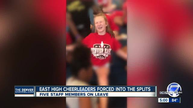 Videos show high school cheerleaders forced to do painful splits