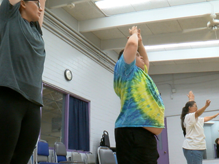 Adapted yoga class a hit with students