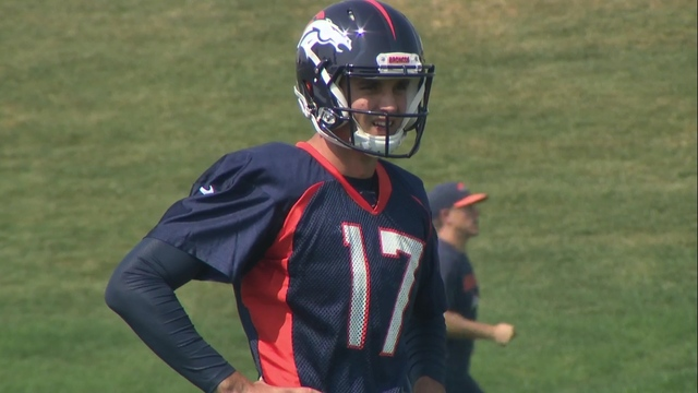 Broncos waiving Kyle Sloter, leaving no healthy backup QB