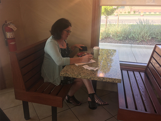 Suicide note left at cafe saves woman's life
