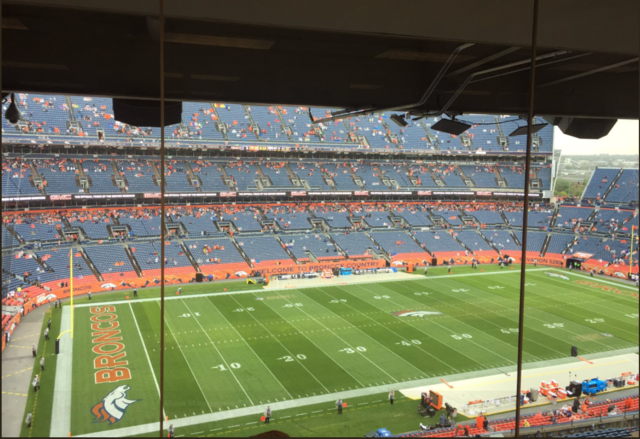 Broncos lead Cowboys, 7-0, as game delayed by weather