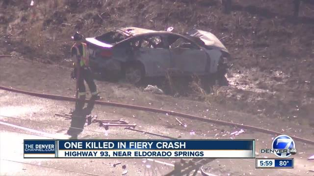 Deadly crash closes Highway 93 south of Eldorado Springs