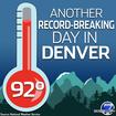 Denver sets new high on last full day of summer