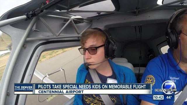 Special needs kids co-pilot flights around Centennial for Challenge Air