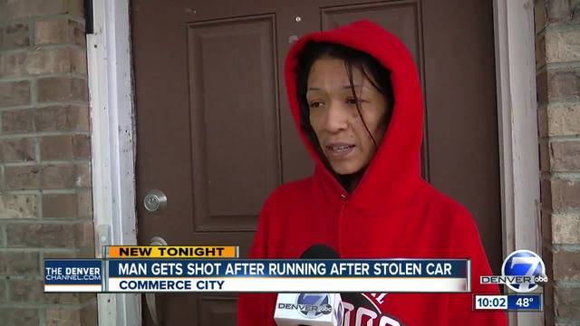 Commerce City man gets shot while pursuing car theft suspects