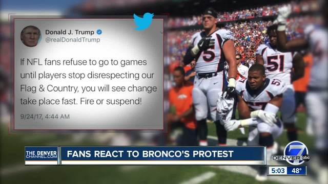 Broncos fans react to feud between President Trump and the NFL