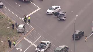 Trooper rushed to hospital after crash