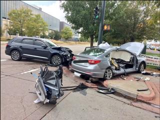 Serious crash near Pepsi Center prompts response