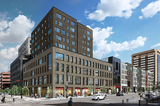Mixed-use development replacing old bus terminal