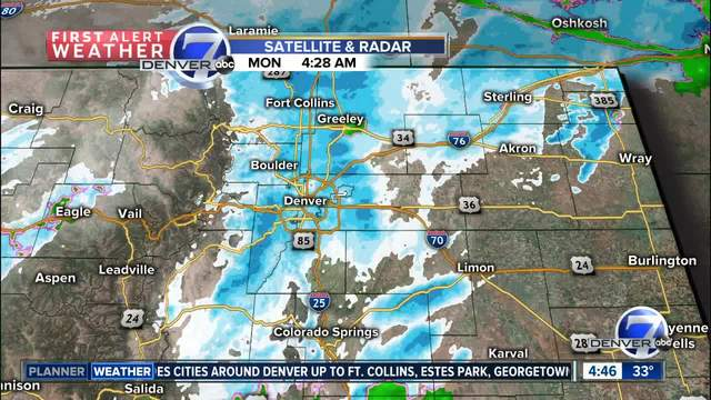 Ready Or Not The First Snowfall Of The Season Is Here Denver - First snow map us