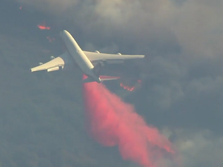SuperTanker takes on California wildfires