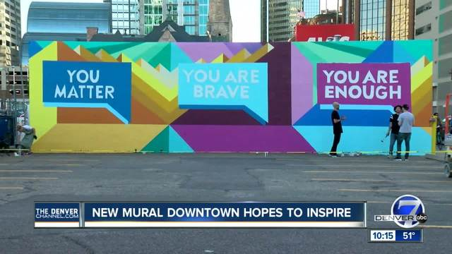 In eight simple words- a downtown Denver mural is focusing on mental health