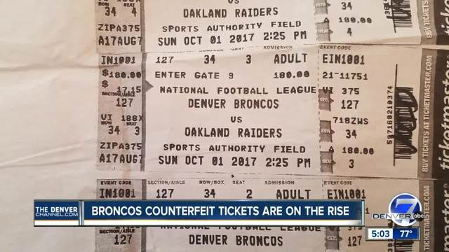 Denver Broncos warn of counterfeit tickets being bought through…