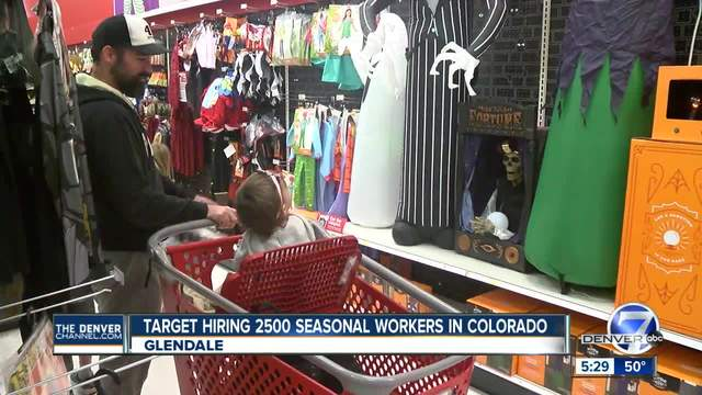 Target hiring 2-500 seasonal workers in Colorado