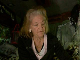 Elderly woman living in van for months