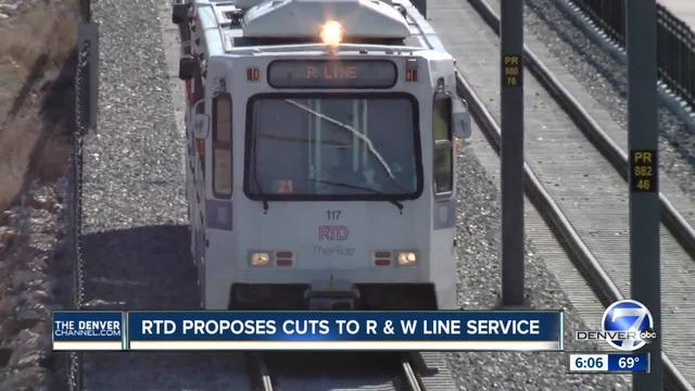 RTD may scale back service on R and R lines