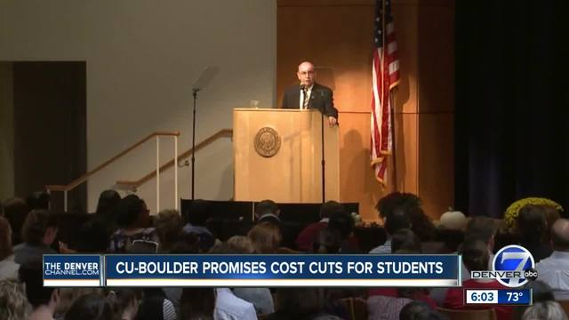 CU Boulder says it plans to lower tuition by eliminating course fees…