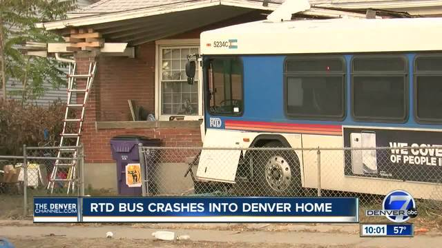 3 injured- 1 dead in separate RTD bus crashes- including one into Denver home