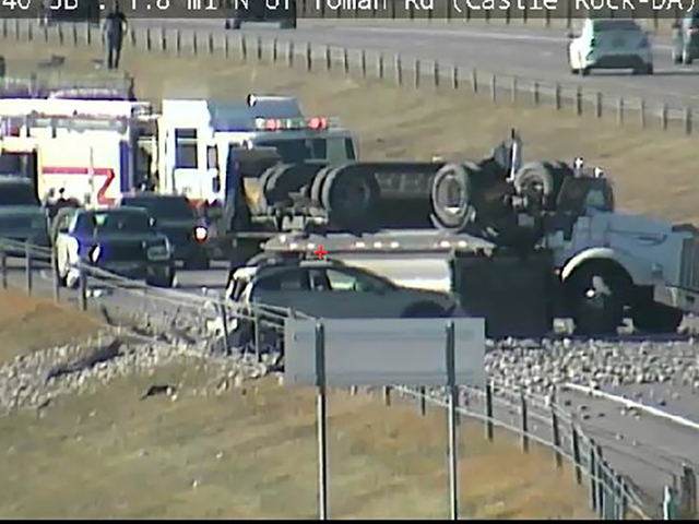 Northbound Interstate 25 back open after semi rollover