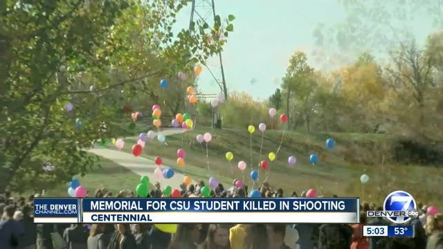 Balloons released in memory of CSU shooting victim