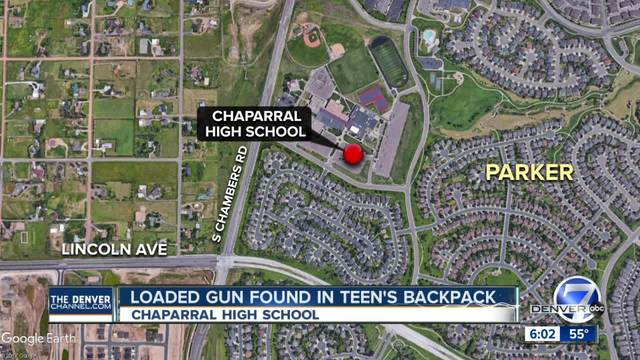 Juvenile found with loaded gun outside of high school