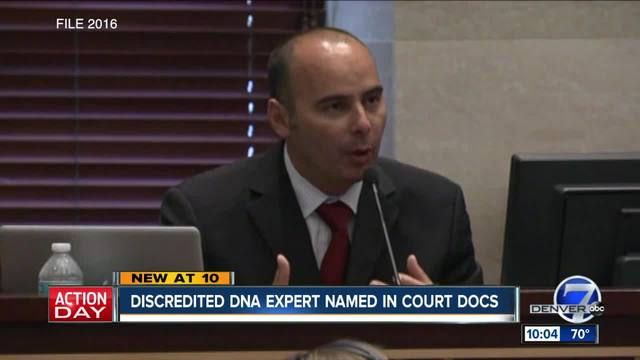 Discredited DNA expert named in court docs