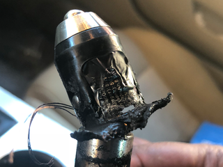 Men say safety device exploded in car