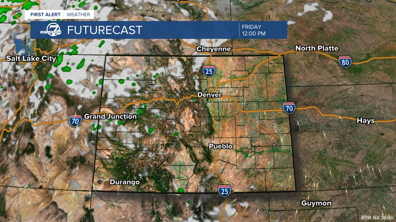 Futurecast: Noon today