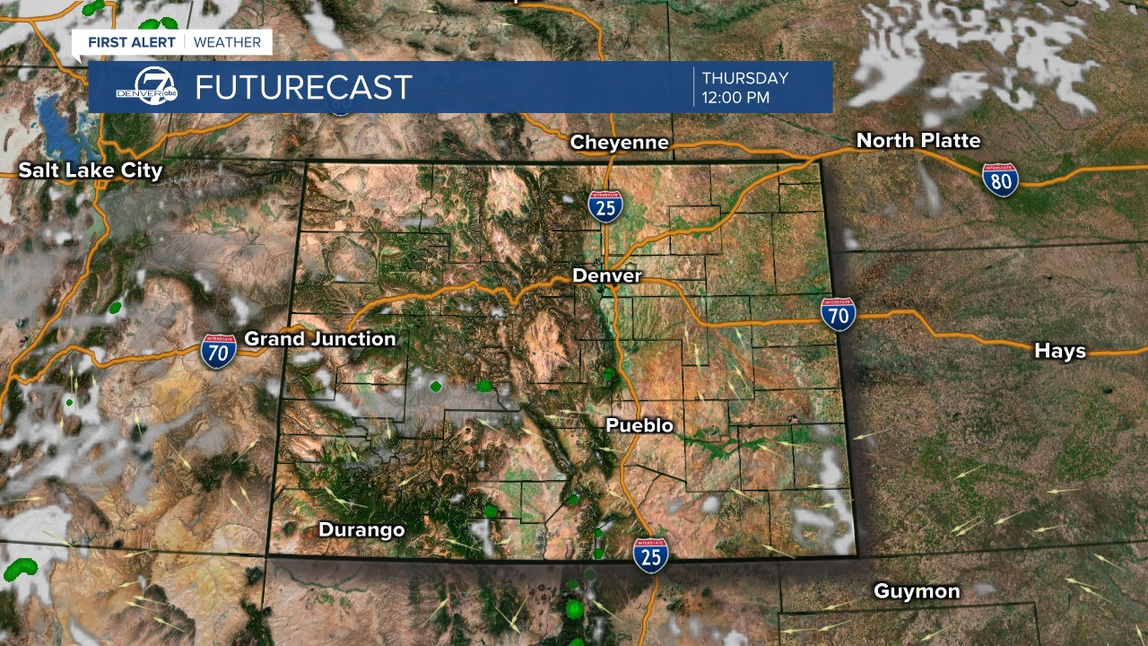 Futurecast: Noon tomorrow