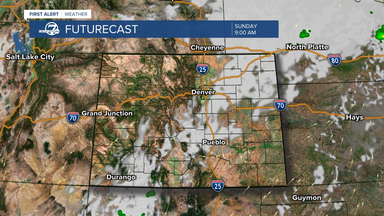 Futurecast: 9 a.m. tomorrow
