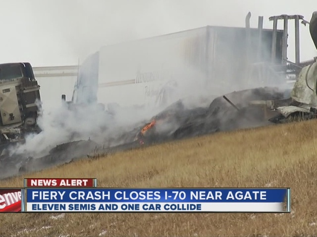 I-70 closed south of Agate after crash involving semi carrying ...