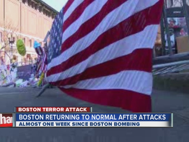 Boston returning to normal after marathon bombings