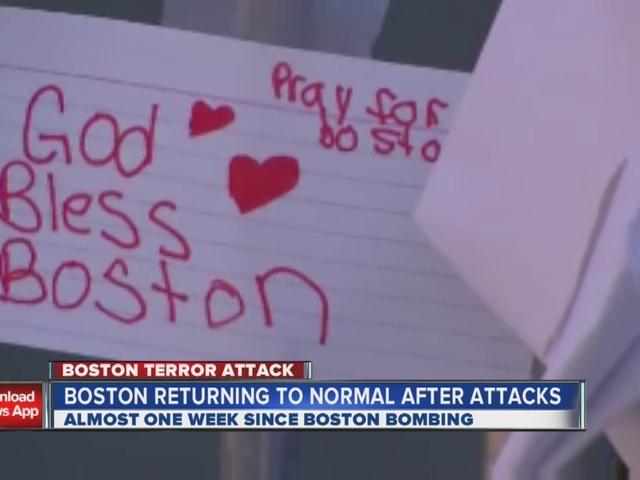 Makeshift memorial grows in Boston