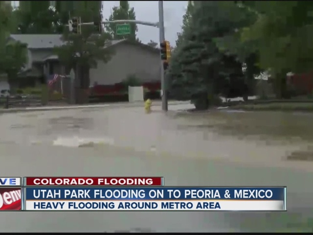 Utah Park flooding into Peoria and Mexico