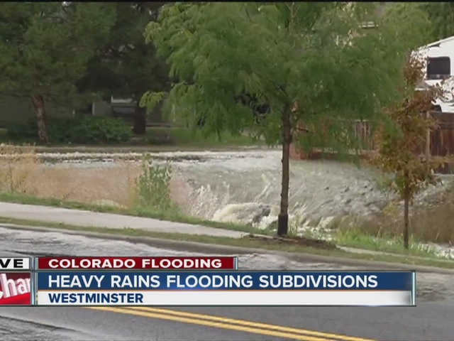 Continued rains flood Westminster subdivisions