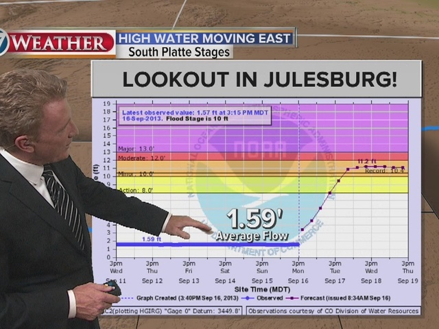 Weather Update: Flood waters move east