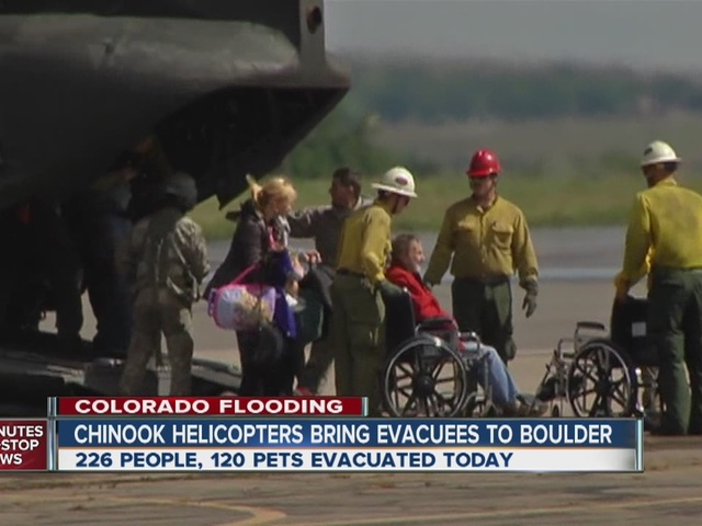 Army choppers rescue flood victims in Boulder County
