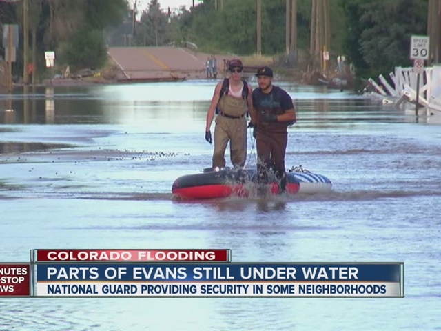 Evans residents grapple with flood aftermath